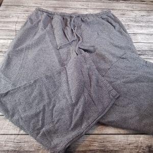 Garnet Hill Gray Linen Cropped Wide Leg Pants